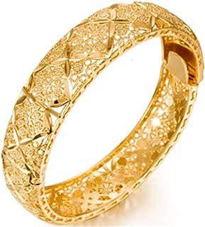Women 24K Gold Color Dubai Arabic Bangles&Bracelet African/Arab/Kenya/Middle East Wedding