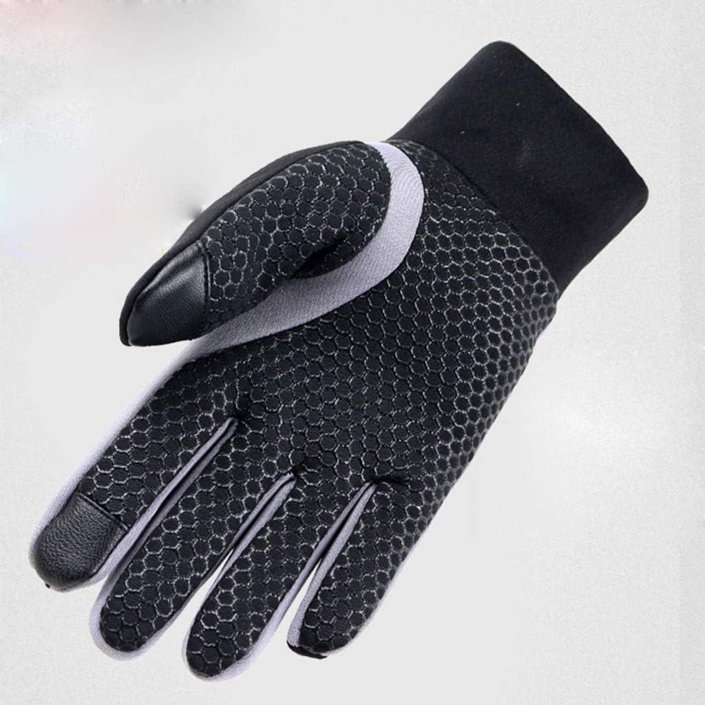 baskuwish Men's Running Gloves - Black Touchscreen Gloves - Power Stretch Lightweight Gloves