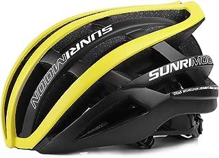 SUNRIMOON Adult Bike Helmet, Road & Mountain Race Cycling Bicycle Helmet for Men Women, Double Shell Design, 30 Large Vents, Adjustable Lightweight Biking Helmets, 19.69-24 Inches