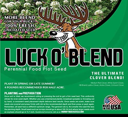 Horny Buck Food Plot Seed for Mix Luck Deer - Easy-to-use O' safety Blend