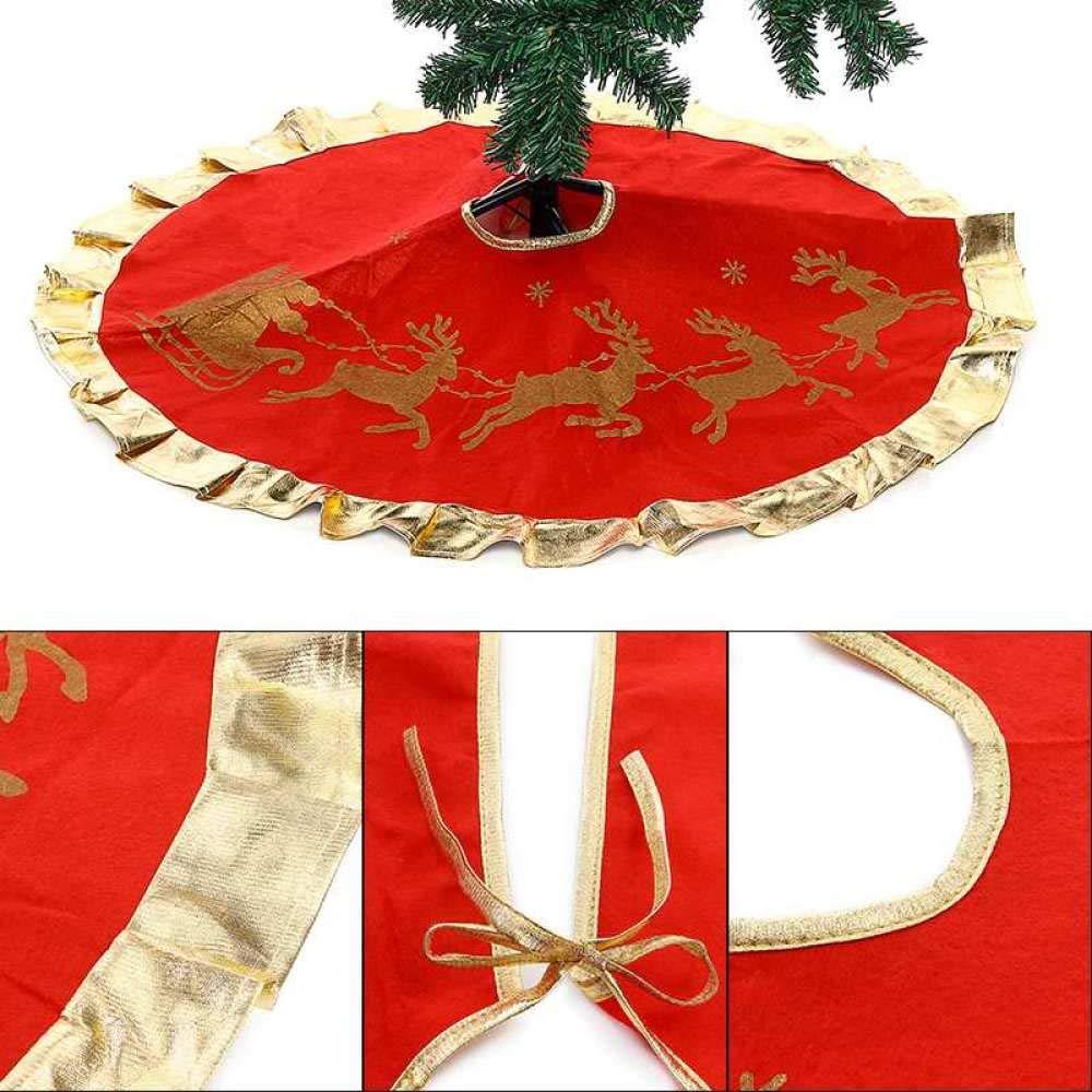 FA la llama Personalizado Rojo Navidad Medias con blanco ribete de piel sintética