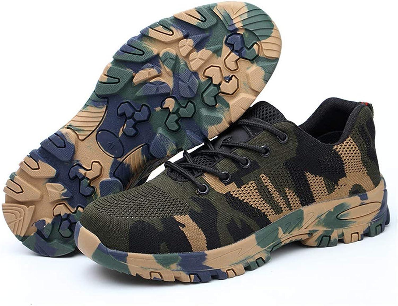 Fuxitoggo Breathable Sicherheitsschuhe zusammengesetzte Stahlzehen-dauerhafte Nicht Beleg-Schuhe (Farbe (Farbe (Farbe   Grün, Größe   EU 39)  4e0488