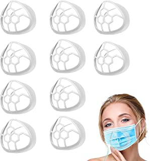 10PCS Silicone Face Bracket,3D Bracket Inner Support Frame for More Breathing Space,Keep Fabric off Mouth,Cool Lipstick Pr...