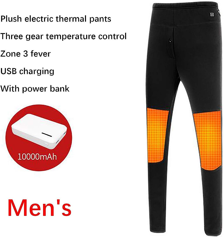 pantaloni da riscaldamento per uomo e donna con USB intelligente adatto per gli sport invernali allaperto XXXL-Uomo Pantaloni elettrici Intelligenti,pantaloni termici elettrici