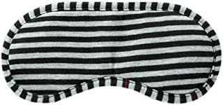 Black Gray Stripe Style Soft Breathable Cotton Eye Mask For Sleep Camping Travel