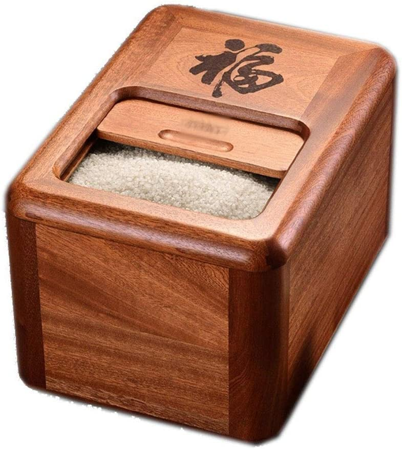 Rice Memphis Mall Storage Bucket Lid Magnetic Healthy Wooden Buc Lowest price challenge