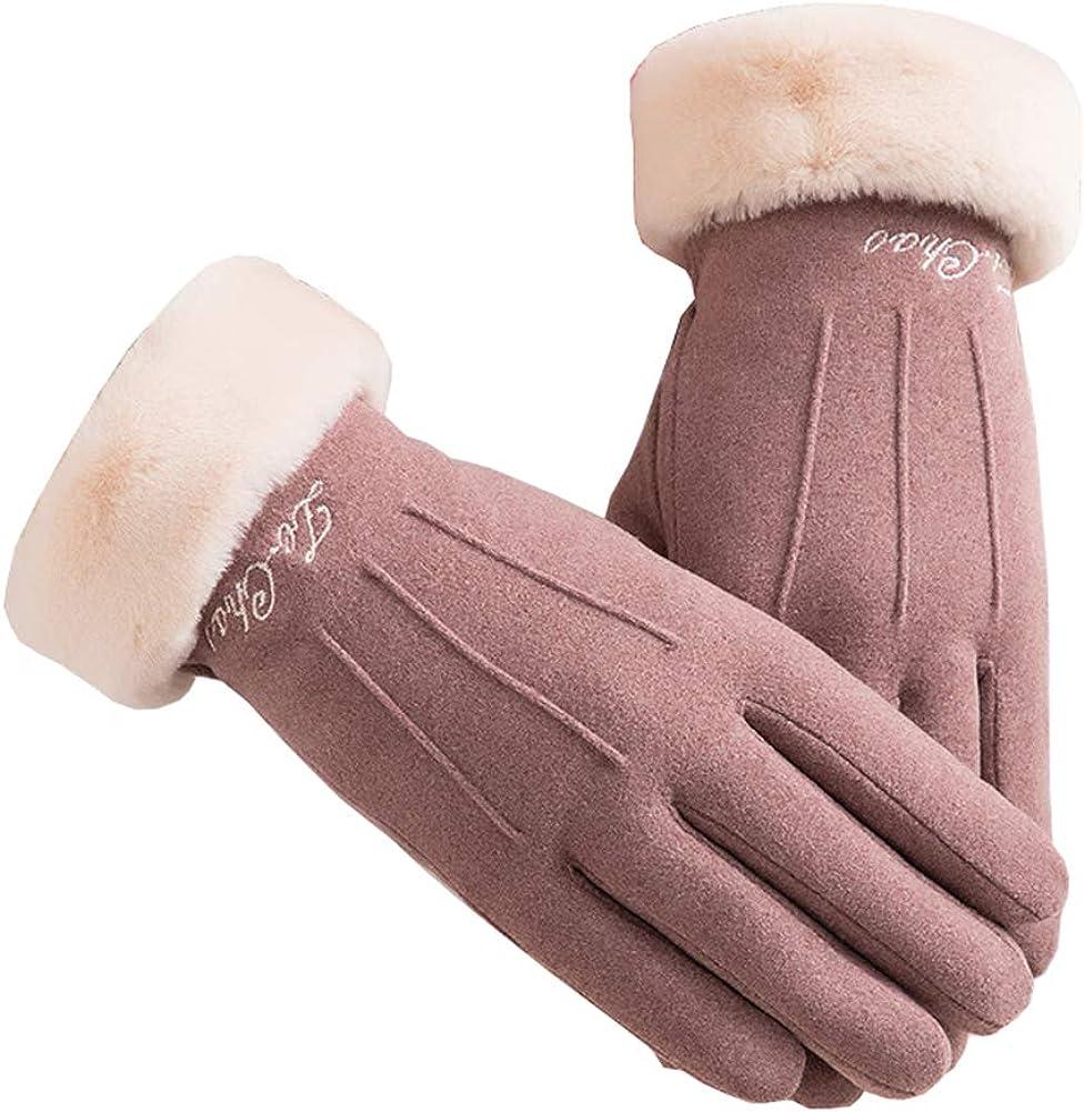 Xinqiao Women's Winter Warm Touchscreen Gloves Windproof Texting Fleece Mittens