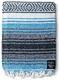 ⚡ HANDMADE PREMIUM QUALITY: These handwoven Mexican Blankets are thick, soft, and vibrantly colored. Beautifully woven by artisans on a traditional wooden loom. These bajas and serapes will not only remind you of old Mexico but they are also cozy and...