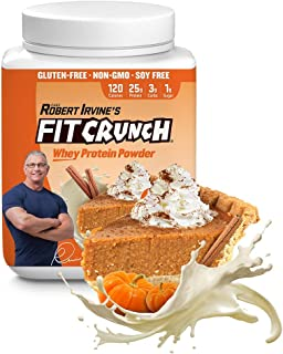 FITCRUNCH Whey Protein Powder, Designed by Robert Irvine, Limited Edition Flavor, 120 Calories and 25g of Protein, Keto, G...
