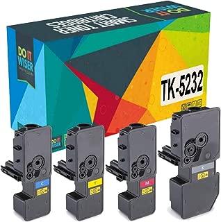 Do it Wiser Compatible Toner Cartridge Replacement for Kyocera Ecosys M5521cdw P5021cdw P5021cdn M5521cdn | TK-5232 TK-5232K TK-5232C TK-5232M TK-5232Y (4 Pack)