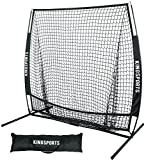 KingSports Collapsible Baseball Net/Softball Net, 7 x 7 Large Mouth Outdoor Sports Net with Bow Net Frame & Carry Bag … (7'x7')