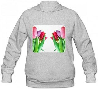 ピンクと紫のチューリップ Women Hoodie Sweater レディーズ トップス パーカー アクティブウェア