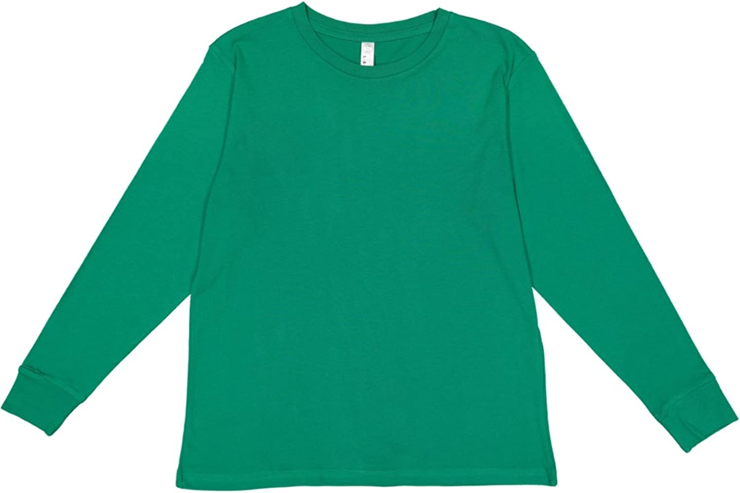 LAT Youth 100% Cotton Jersey Crew Neck Long Sleeve Tee