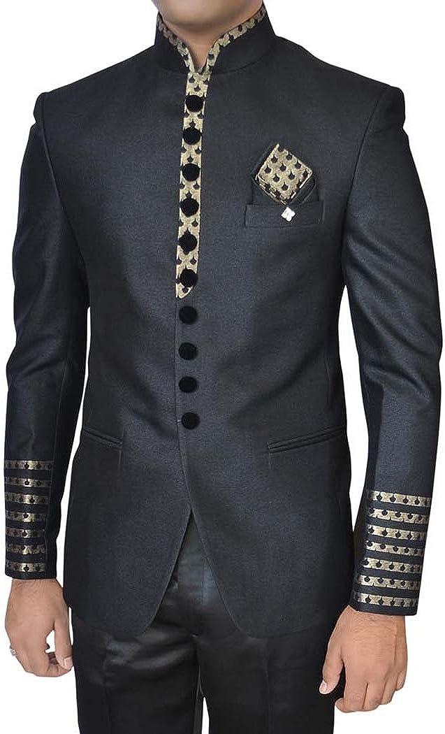 INMONARCH Mens Black 4 Pc Wedding Tuxedo Suit TX11245