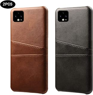 2 Pcs Wallet Phone Case, Slim PU Leather Back Protective Case Cover with Credit Card Holder for Google Pixel 4 /Google Pixel 4 XL,E,4