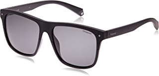Polaroid Sunglasses Men's Pld 6041/s Polarized Rectangular Sunglasses, Black, 56 mm