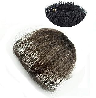 Xiaomeijiafa ウィッグ 前髪ウィッグ エクステンション ポイントウィッグ かつら 総手植 空気感自然 100%人毛