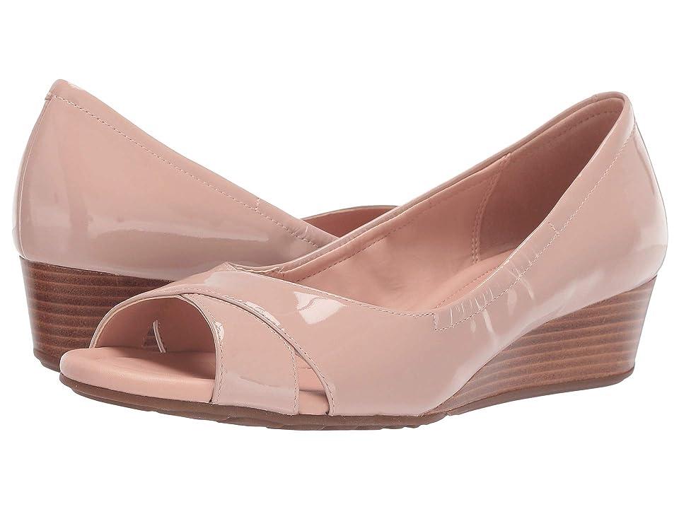Cole Haan Melina Open Toe Wedge (Mahogany Rose) Women's Shoes