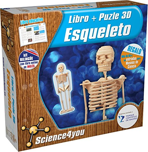 Science4you - Puzzle 3D - Esqueleto - Juguete científico y Educativo
