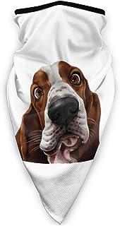 Lsjuee Cute Basset Hound Dog sportiva antivento, passamontagna, Bandana unisex per il collo Ghetta per il collo Copricapo ...