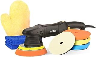 SPTA 6'' 500W 21MM Variable Speed Orbital Polisher DA Car Polisher Orbit Dual Action Polisher Auto Detailing Tools with 3 DA Polishing Pads 1 Woolen Polishing Pad 2 Microfiber Towels 1 Glove