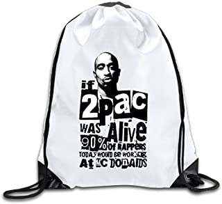 2pac Lightweight Drawstring Bag Pouch Backpack White Size One Size