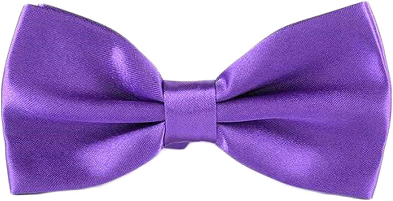 Andongnywell Mens Solid Color Tie Classic Silk Woven Necktie Formal Wedding Party Skinny Neckties Bow Tie Bowties