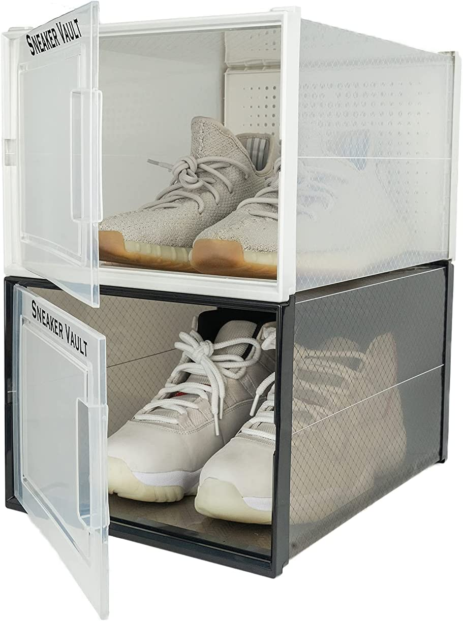 6 Pack Sneaker Import Vault Stackable Shoe Clear Plastic Storage Challenge the lowest price of Japan ☆ Boxes