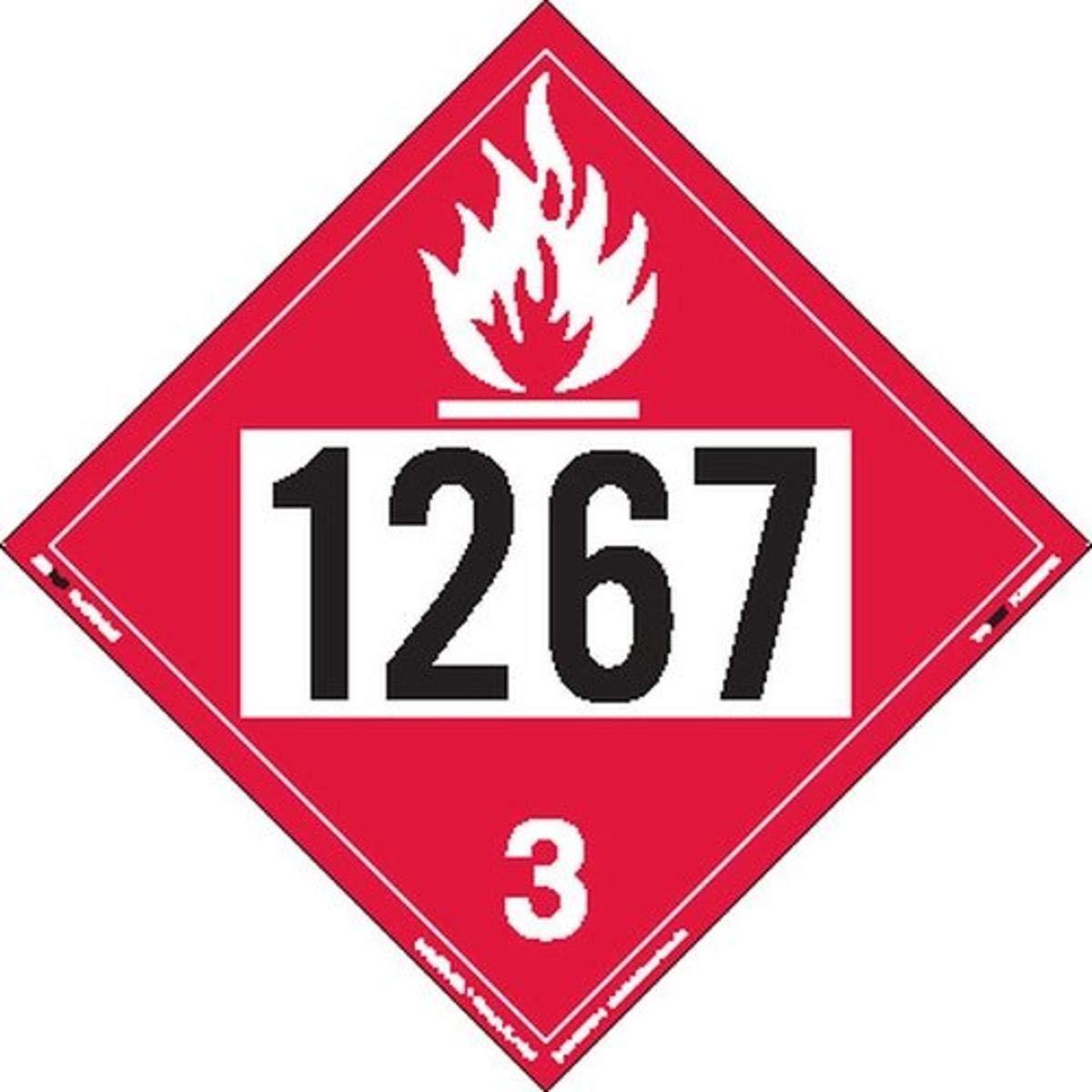 Very popular Labelmaster ZT2-1267 UN 1267 Manufacturer direct delivery Flammable Hazmat Liquid Ta Placard