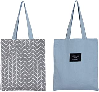 Women's Graphic Pattern Handmade Reversible Canvas Tote Bag