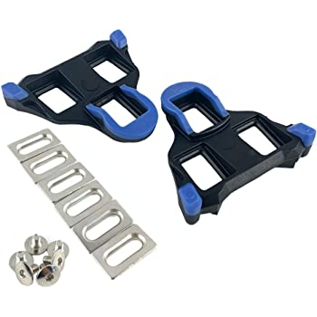 Mzyrh Road Bike Cleats 6 Degree Float Self-Locking Cycling Pedals Cleat for SH-11 SPD-SL System Shoes