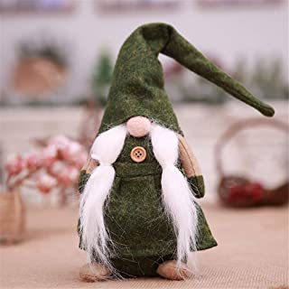 Hot Sale!DEESEE(TM)🌸🌸 17 Inches Handmade Christmas Gnome Swedish Figurines Holiday Decoration Gifts (Green)