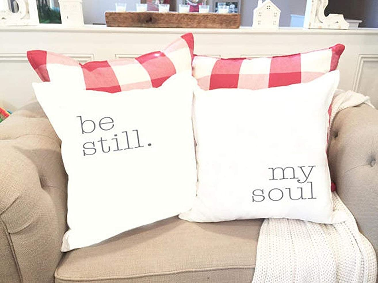High quality Be Still My Soul pillow cover SET - Quote Pillow Cover - Gift for Couple - Unique Saying Pillow - Anniversary Gift - Gift for her