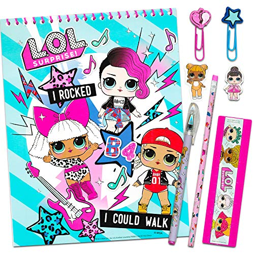 LOL Surprise School Supplies Value Pack ~ 8 Pcs (Folders, Notebook, Pencil, Lanyard, and More)