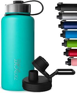 720°DGREE Gourde INOX noLimit - 410ml, 530ml, 710ml, 950ml, 1200ml | Bouteille Isotherme sans BPA + Sport Couvercle
