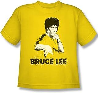 Bruce Lee - - Amarillo Traje Splatter Camiseta de la juventud en amarillo