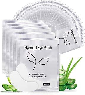 Eye Gel Pads, Aikvigss 50 Pairs Wimperpleisters Under Eye Gel Pads Eye Gel Patches kit, Lint Free Under Eye Gel Patches vo...