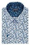 Van Heusen Men's Dress Shirt Flex Collar Stretch Slim Fit Print, Teal, 16' Neck 34'-35' Sleeve (Large)