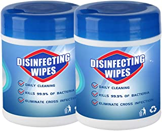 2020 New Professional and Natural Skin-friendly 2pcs 𝐃isinfectiing Wet Wipes 60 Sheets Bag Portable 75 A1cohol Wet Wipes 5ML(A,60 Sheets 2PC)
