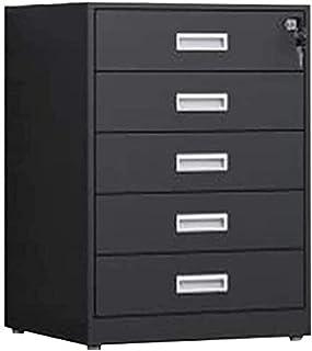 LIUYULONG Armoire de rangement à 5 étages avec serrure, armoire de rangement de bureau avec 5 tiroirs ignifuge, armoire de...