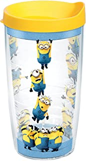 Tervis 1263648 Despicable Me 3 - Minion Palooza Tumbler with Wrap and Yellow Lid 16oz, Clear