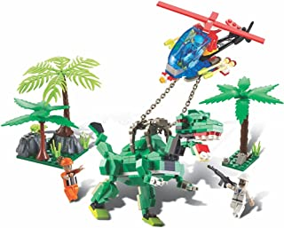 Blocos De Encaixe Dino Saga Captura Rex Dinossauros - 286 Peças - Multicolorido - 6509 - Xalingo