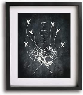 Take Me To Church by Hozier inspired lyric art print