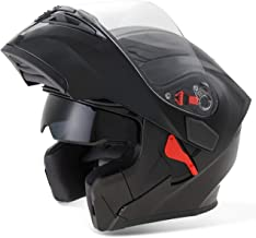 Fashion Visor Exposing Double Lens Face Motorcycle Helmet Winter Open Face Racing Helmets Motocross Face Protector