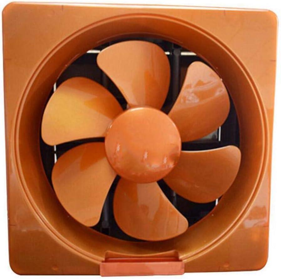 XGHW Ventilador Extractor para Cocina/Inodoro/Baño/Industrial/Extractor de Ventana Blanco/Dorado, Ventilador de plástico de Ahorro de energía silencioso, 12 Pulgadas (Color : Gold)