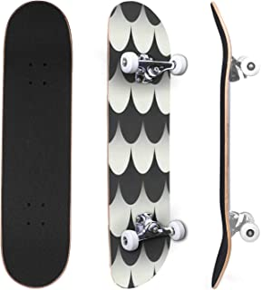 Classic Concave Skateboard Vegetal pattern background Vintage pattern Canadian Maple Trick Skateboards for Beginners and P...