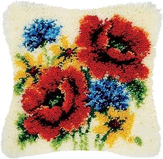 Kits De Kits De Crochet De Loquet, Coussin De Bricolage Tapis Tapis Tapis De Loquet Tapis De Crochet Avec Motif De Toile I...