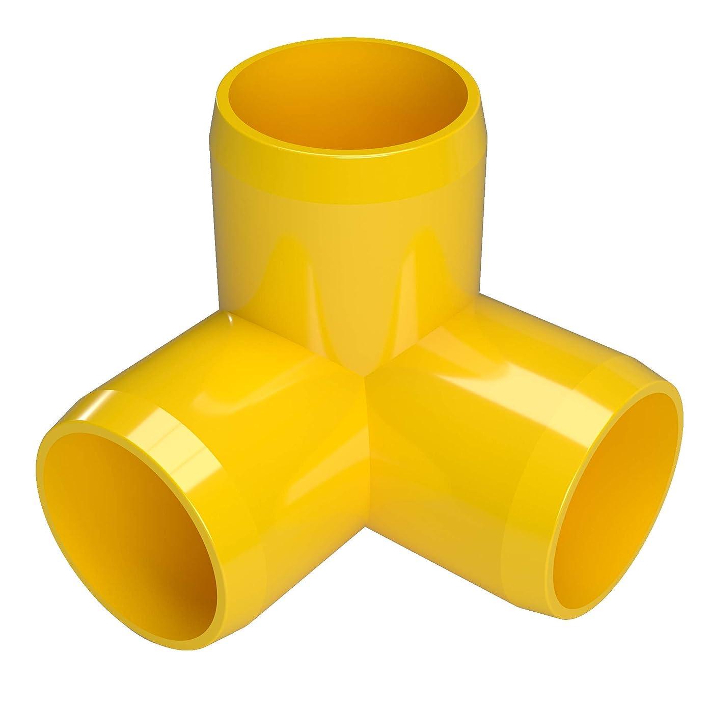 FORMUFIT F1143WE-YE-4 3-Way Elbow PVC Fitting, Furniture Grade, 1-1/4