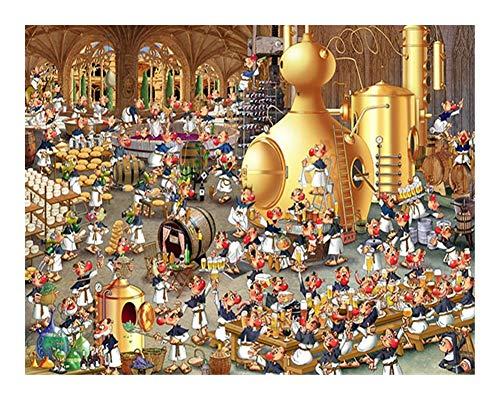 Puzzle Europäische Comics Kollektion Brauerei Gala-500 Stück Jedes Stück ist EIN Unikat, passt Alles zusammen Perfekt