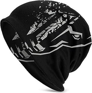 Gorro cálido y suave para hombre adulto, gorro de punto Eisbrecher Schock Sombrero de punto de diseño único para hombres y mujeres Negro